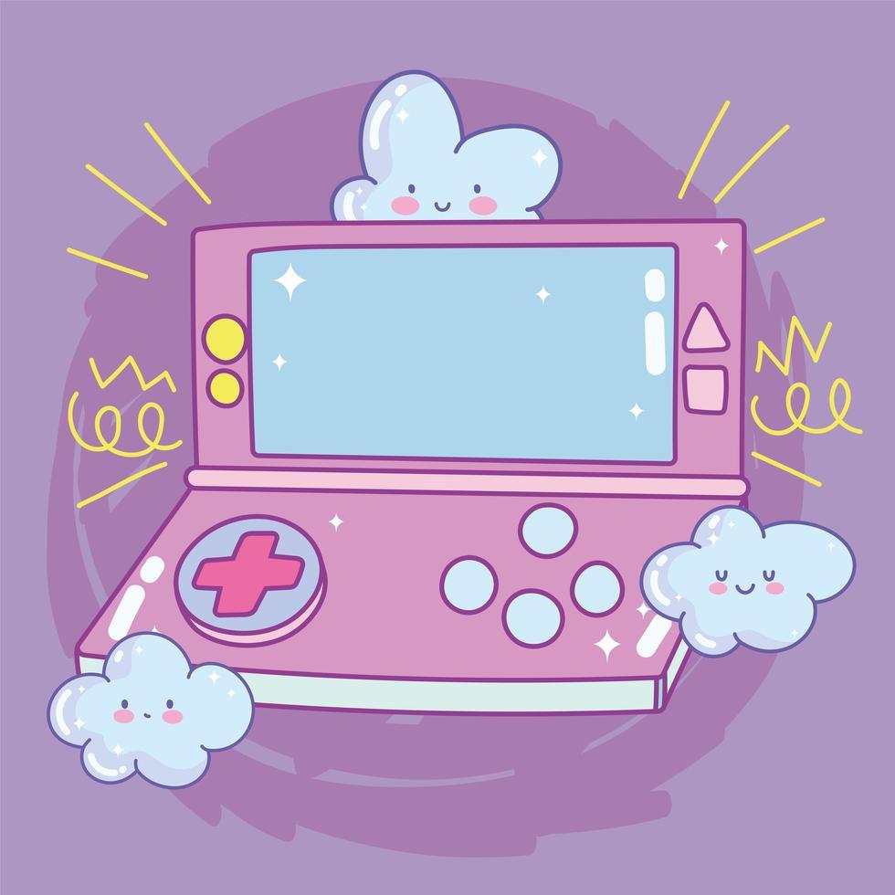videogame draagbare console wolken entertainment gadget apparaat elektronisch vector