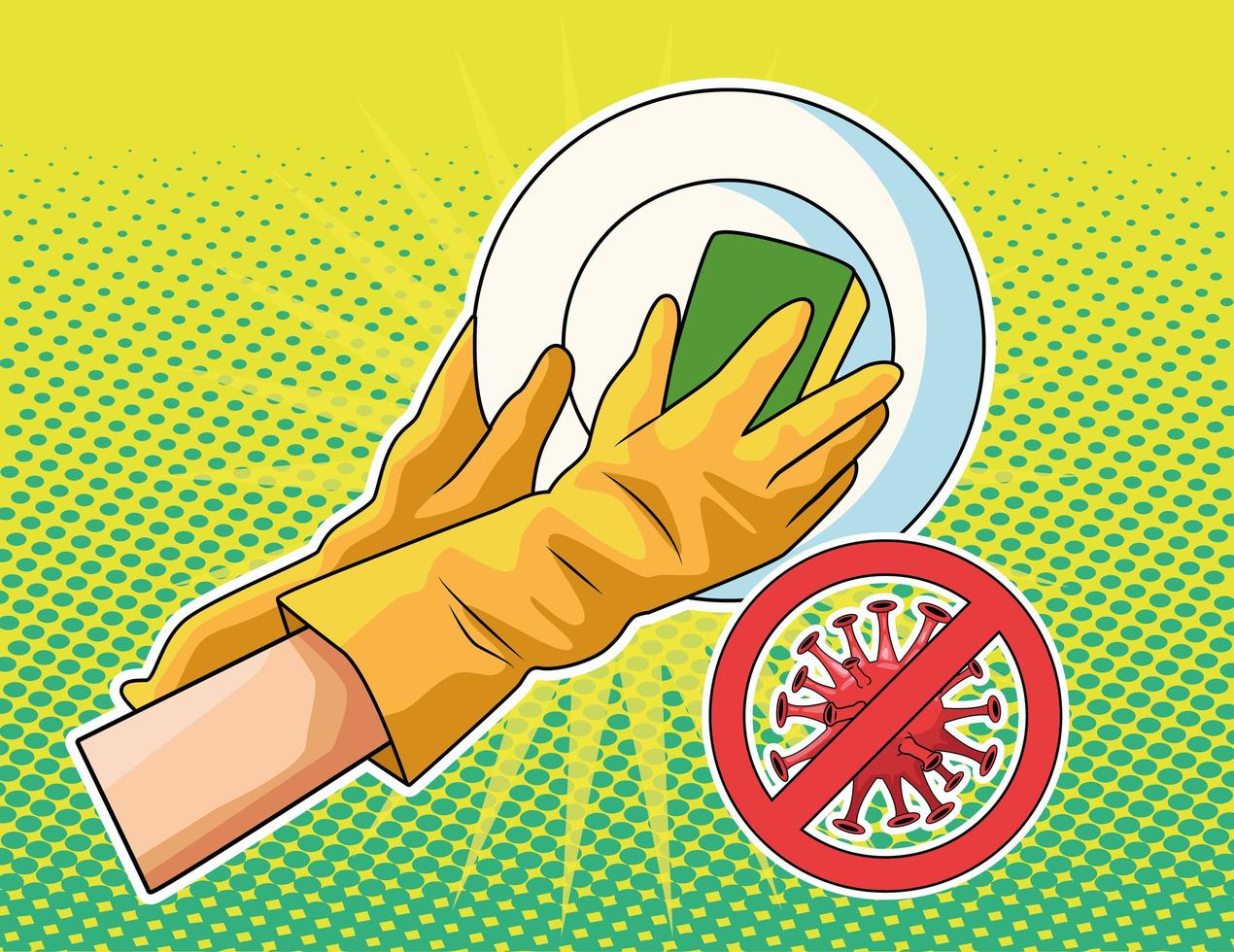 het voorkomen van wasbenodigdheden vector