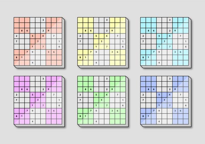 Sudoku vierkant bord vector