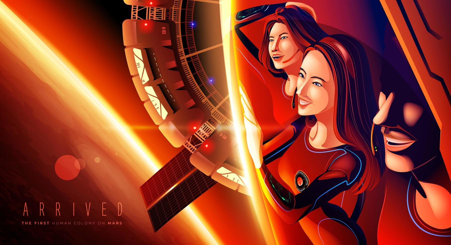 de eerste menselijke kolonie op Mars vector