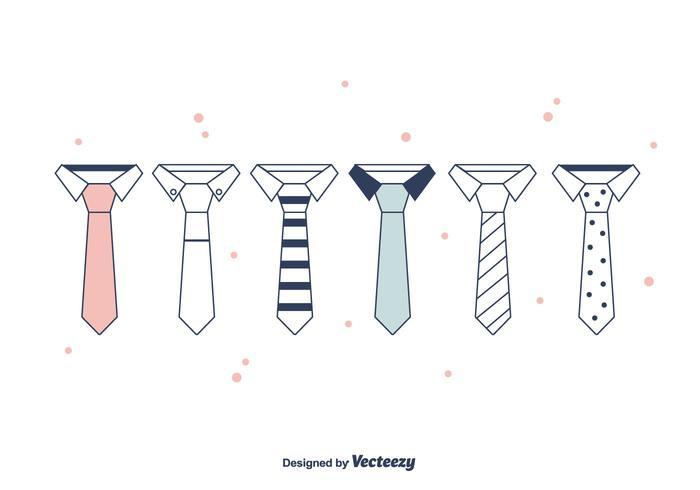 Cravat set vector