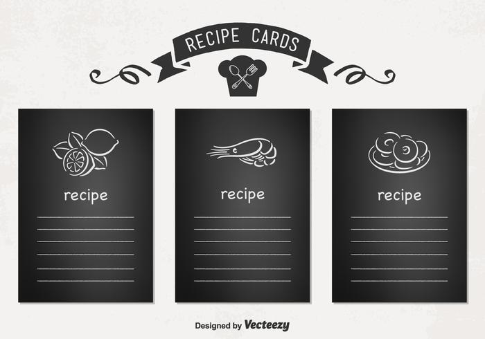 Vector Receptkaarten