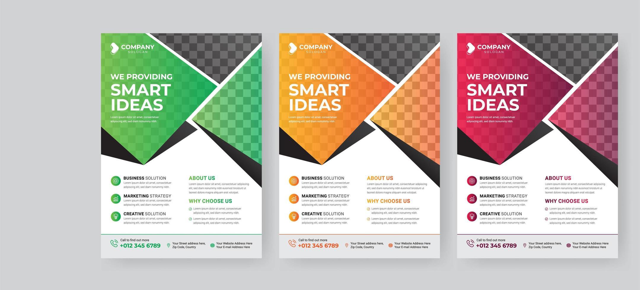 flyer zakelijke sjabloon voor cover brochure vector