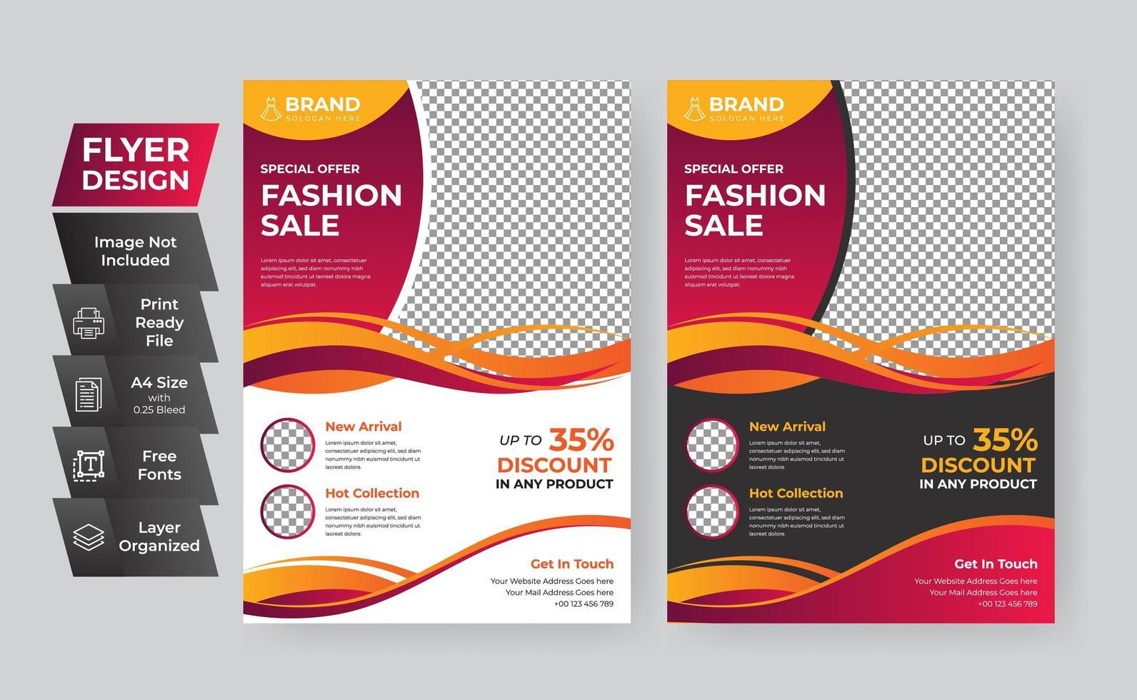 sjabloon folder voor mode verkoop vector