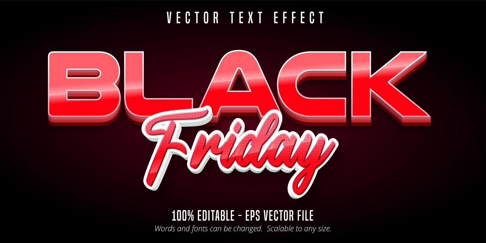 rood zwarte vrijdag tekst vector
