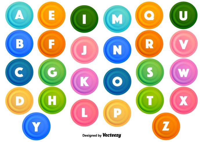 Vector Kogelpunten Met Letters