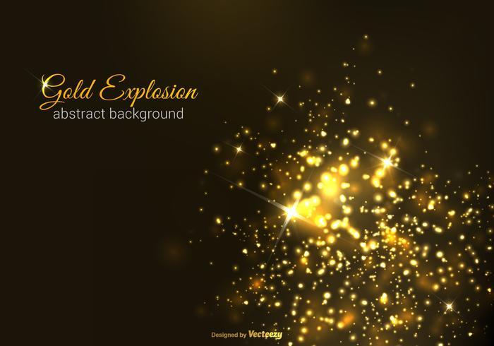 Gratis Gouden Explosie Vector Achtergrond
