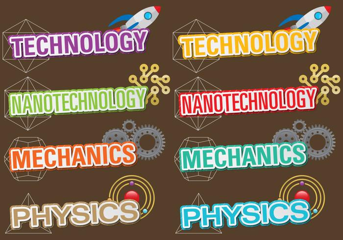 Technologie Titels vector