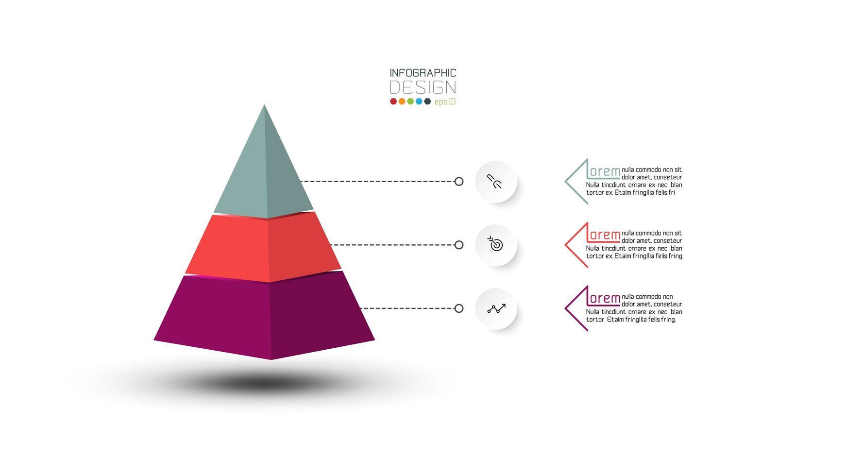 piramide laag zakelijke presentatieontwerp vector