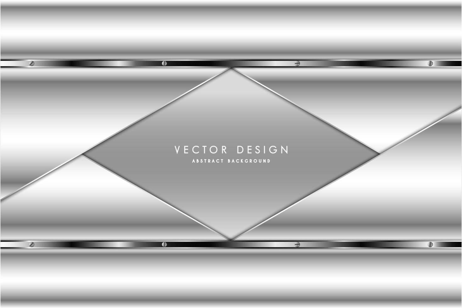 luxe metallic grijs en zilver design vector