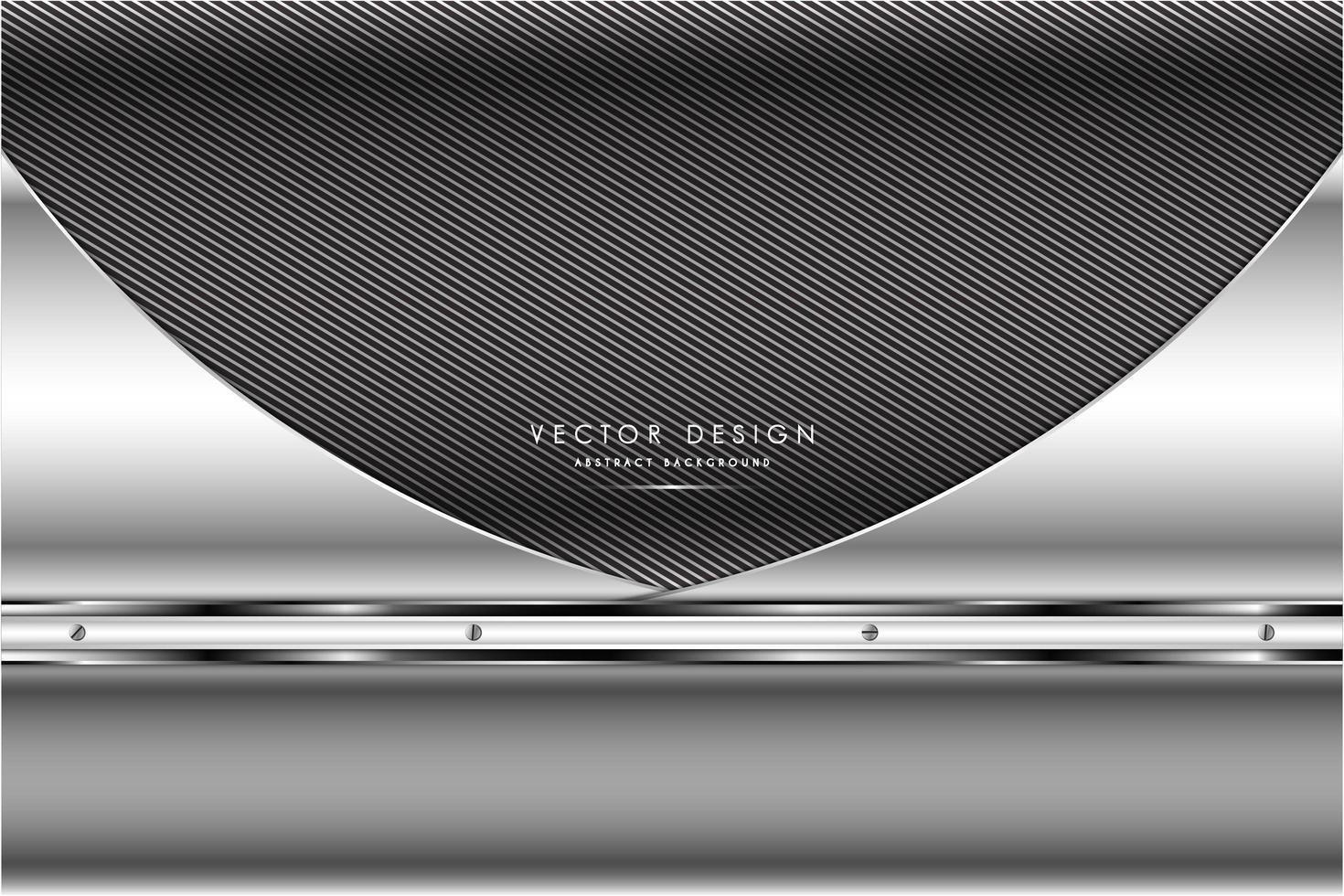 metallic grijs en zilver koolstofvezel ontwerp vector