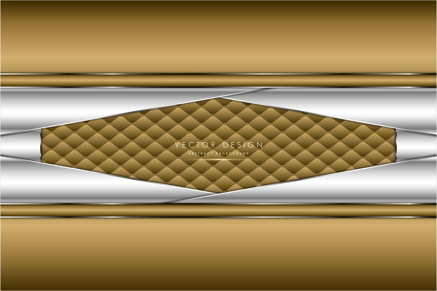 metallic gouden en zilveren schuine panelen met stoffering vector