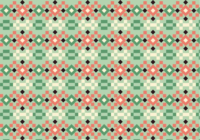 Vierkante Pastelpatroon vector