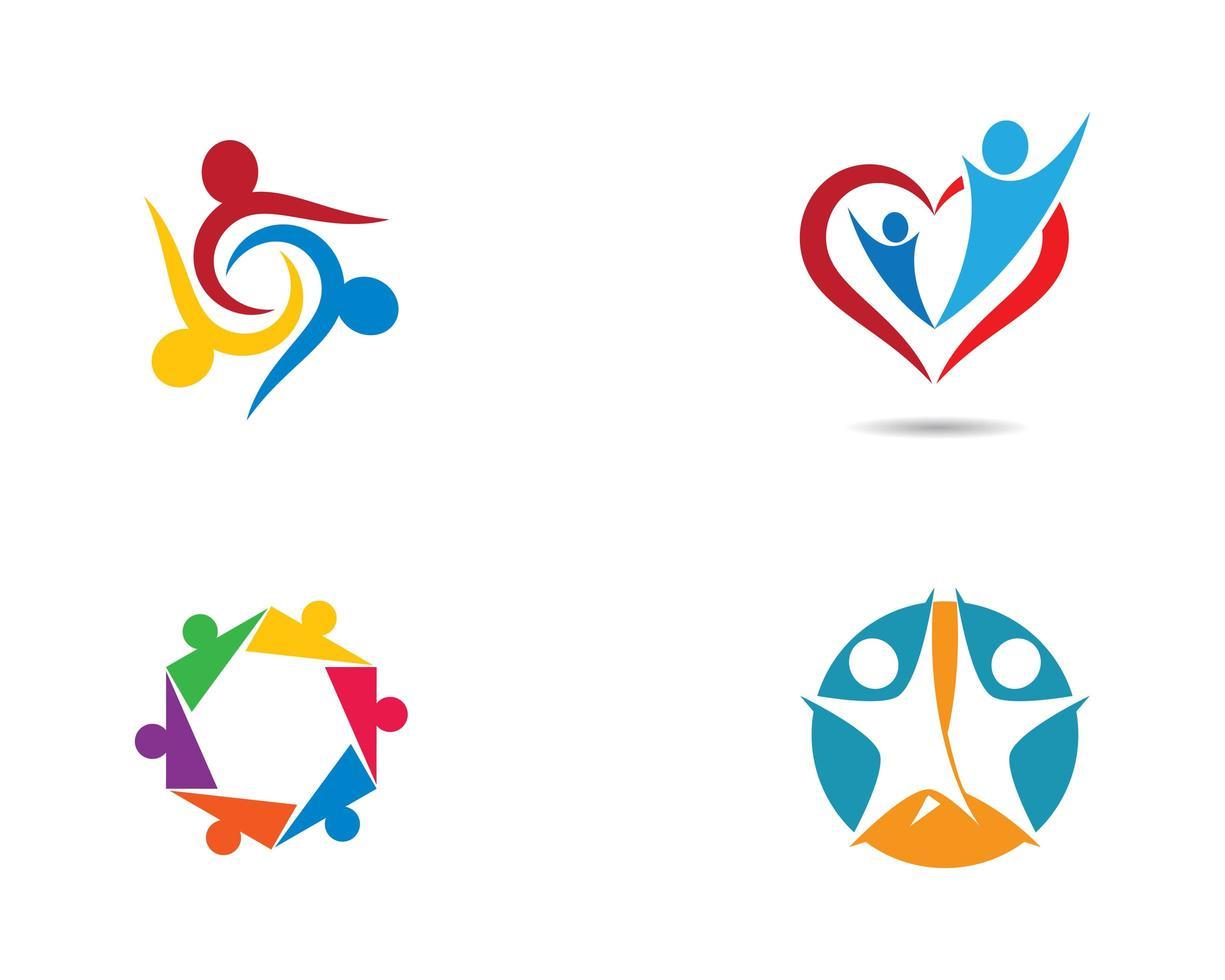 gemeenschap logo icon set vector