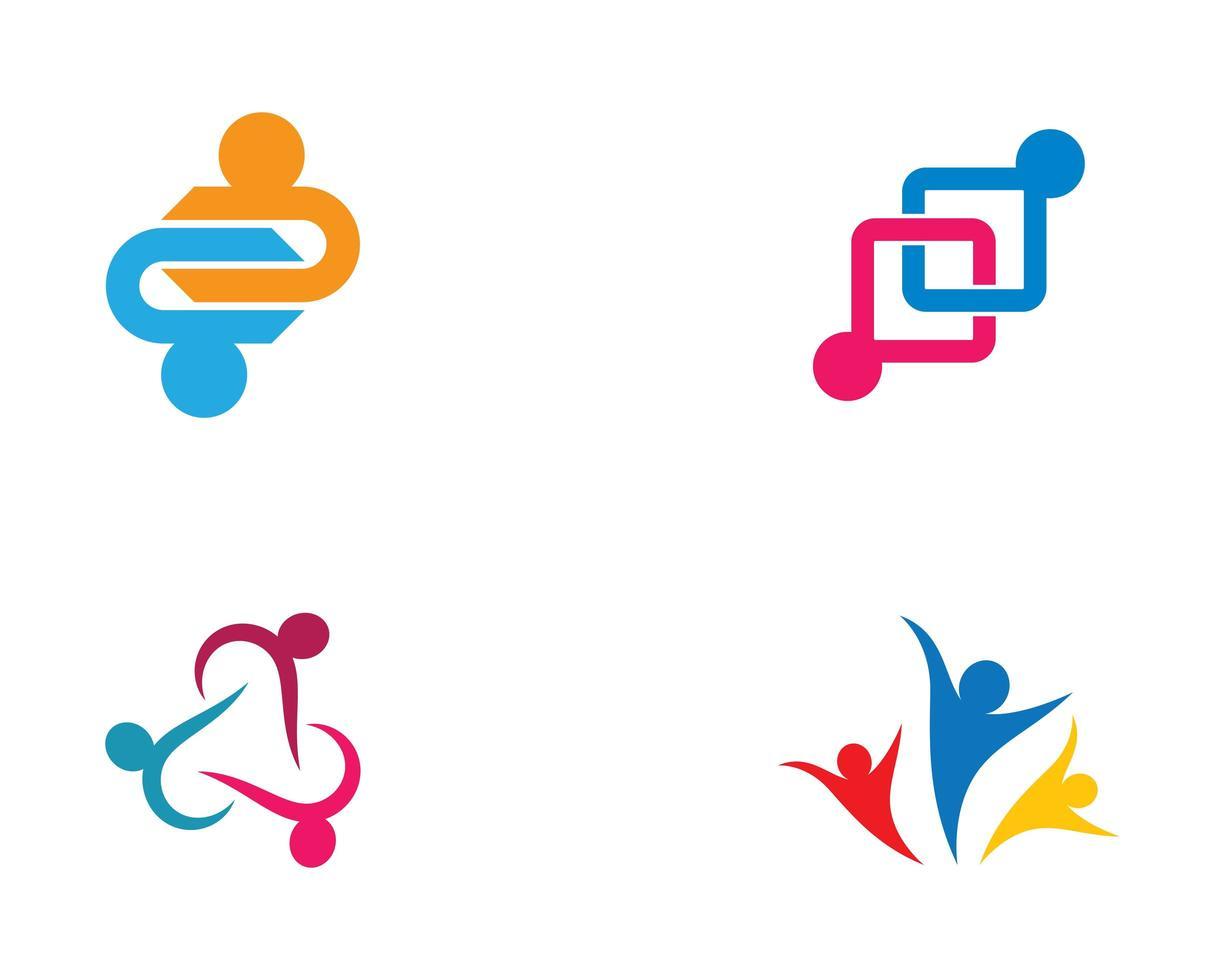 gemeenschap pictogram logo set vector