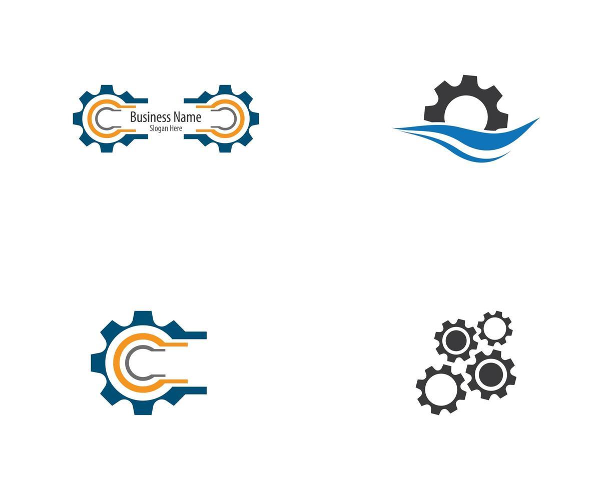 versnelling technologie logo pictogramserie vector