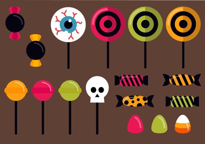 Gratis Halloween Candy Vector