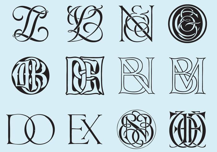 Klassieke Monogrammen vector