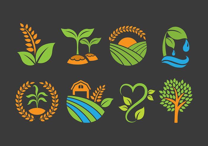Agro en Farm Logo Vectoren