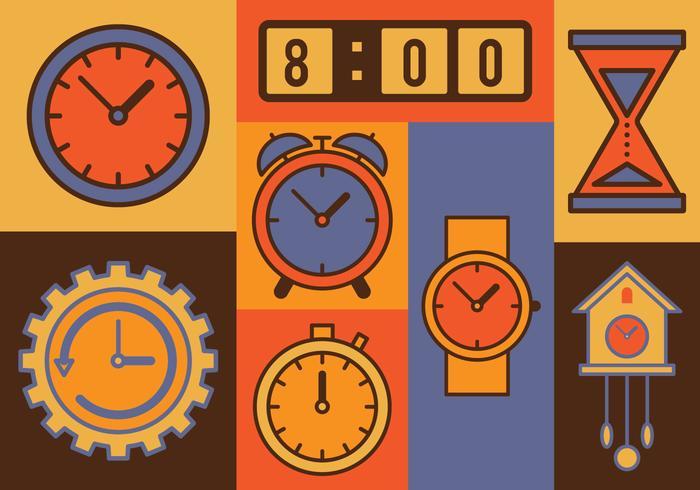 Tijd Vector Icon Set