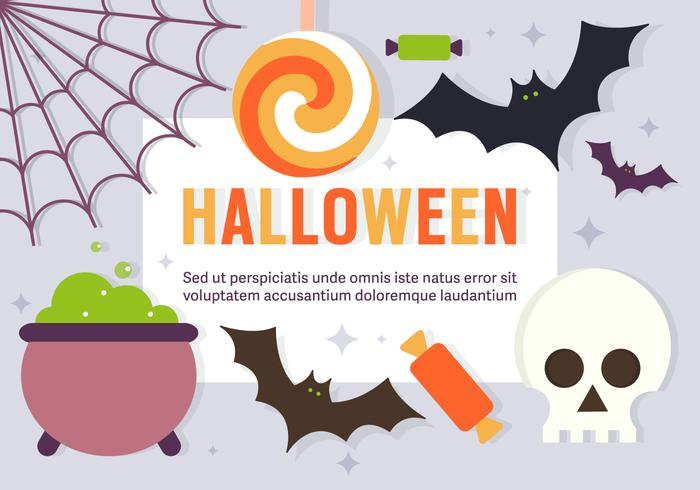 Gratis leuke Halloween vectorelementen vector
