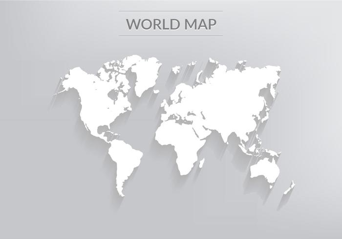 Gratis Vector Wereldkaart Met Schaduwen