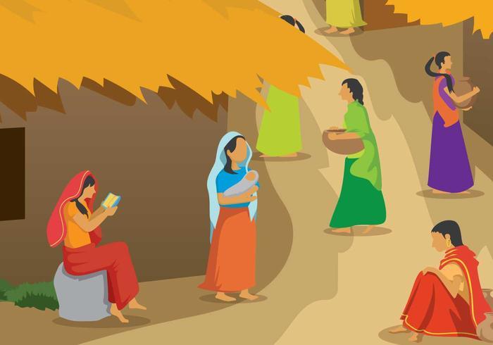 Gratis Indische Vrouw Illustratie vector