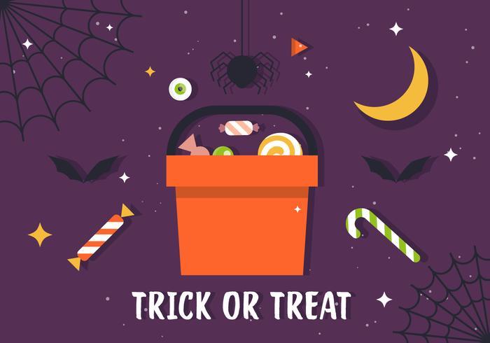 Gratis Truc of Behandel Candy Illustratie vector