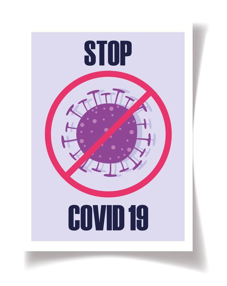 stop de ziekte van het coronavirus vector