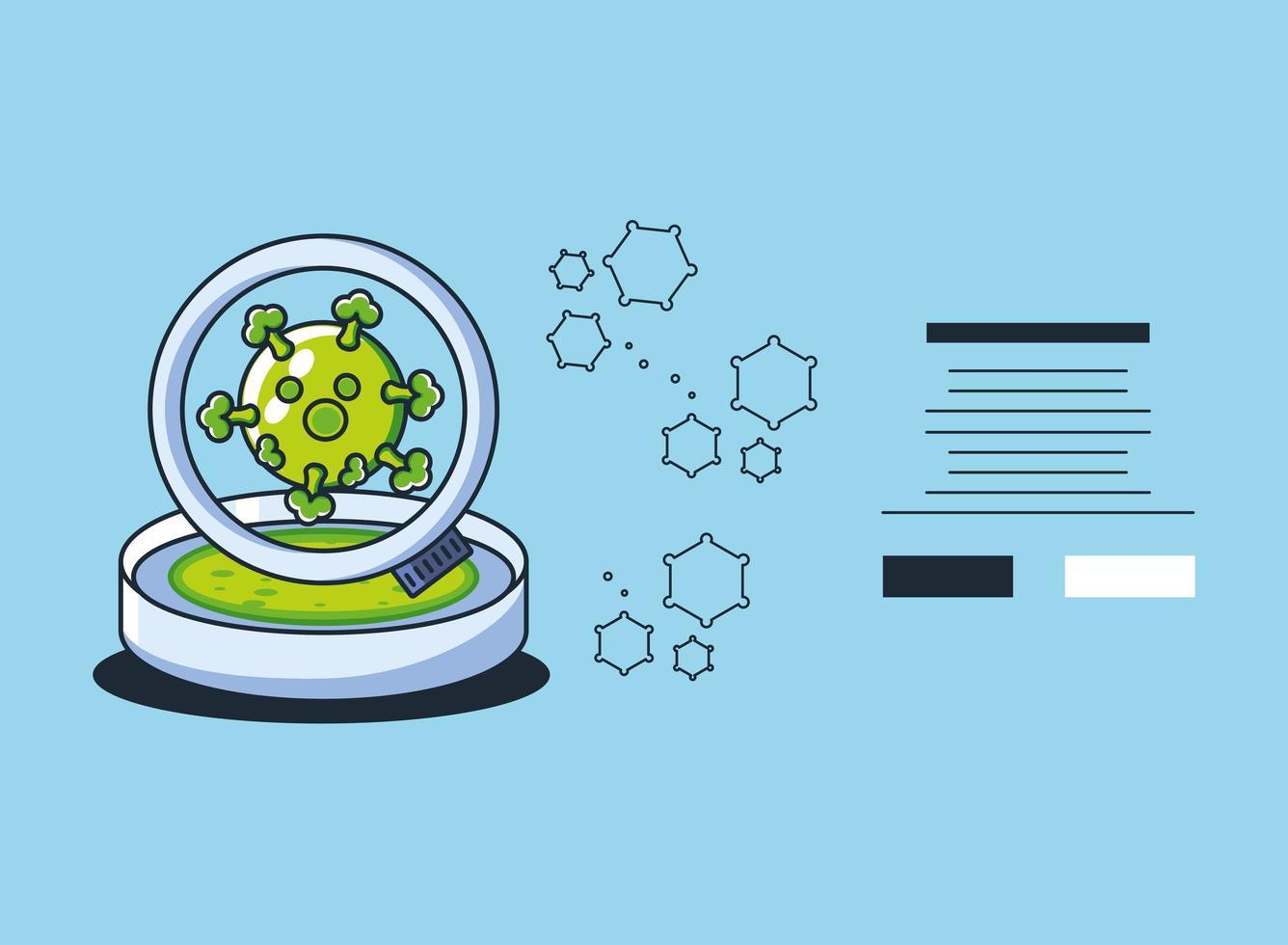infographic met covid 19 molecuul monster vector