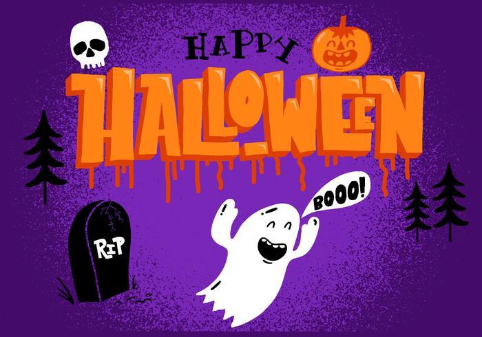 Gelukkig Halloween Ghost vector