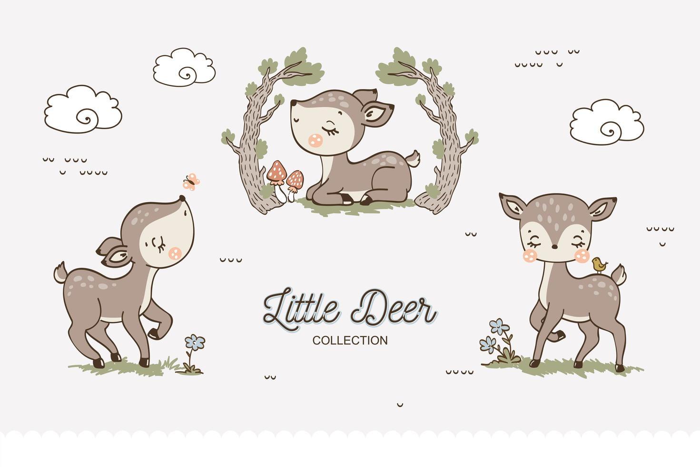 baby herten collectie vector