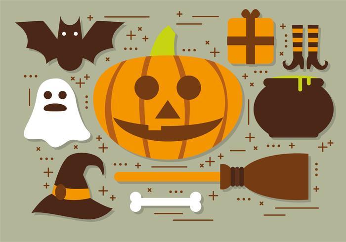 Pompoen Halloween Elementen Vector Collectie