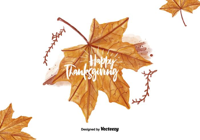 Thanksgiving Leaf Watercolor Illustratie vector