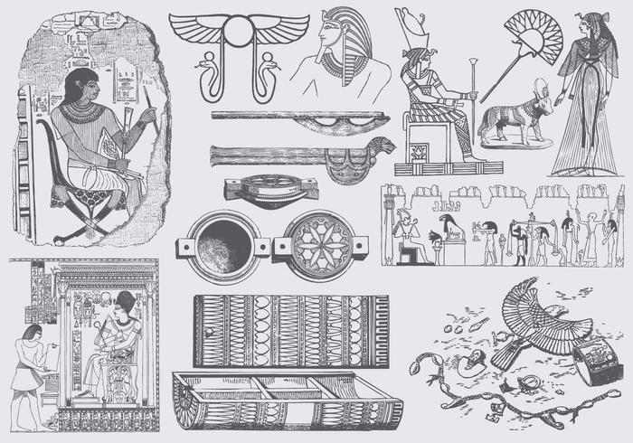 Grijs Egypte Art vector