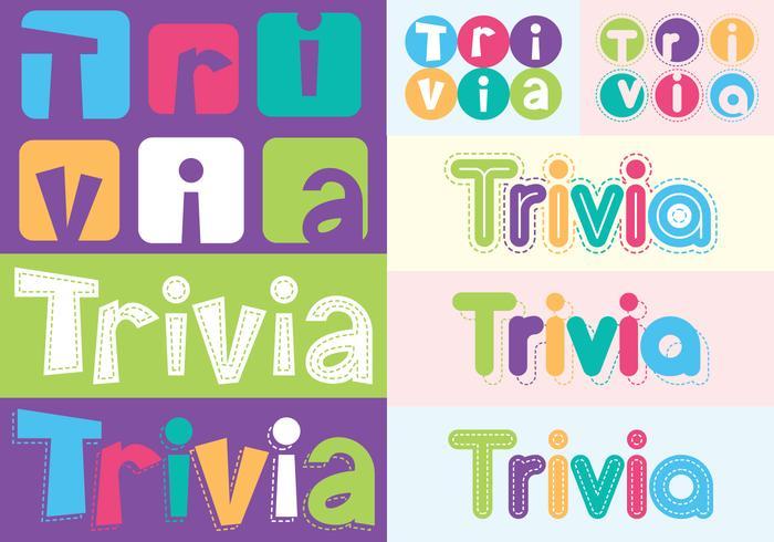 Trivia lettering tekst vector