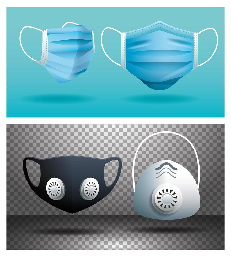 medische maskers set vector