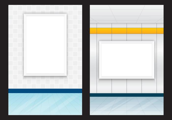 Indoor billboards vector