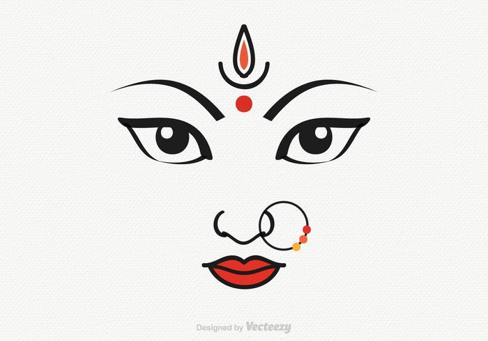 Gratis Vector Godin Durga Illustratie