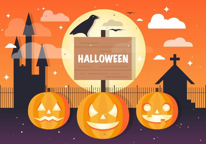 Gratis Halloween Jackolantern Vector Achtergrond