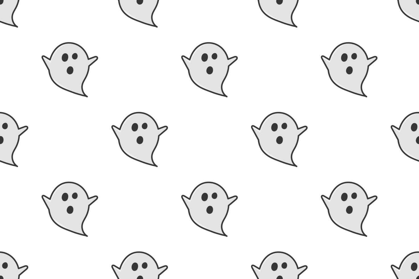 spook naadloos patroon op witte achtergrond vector