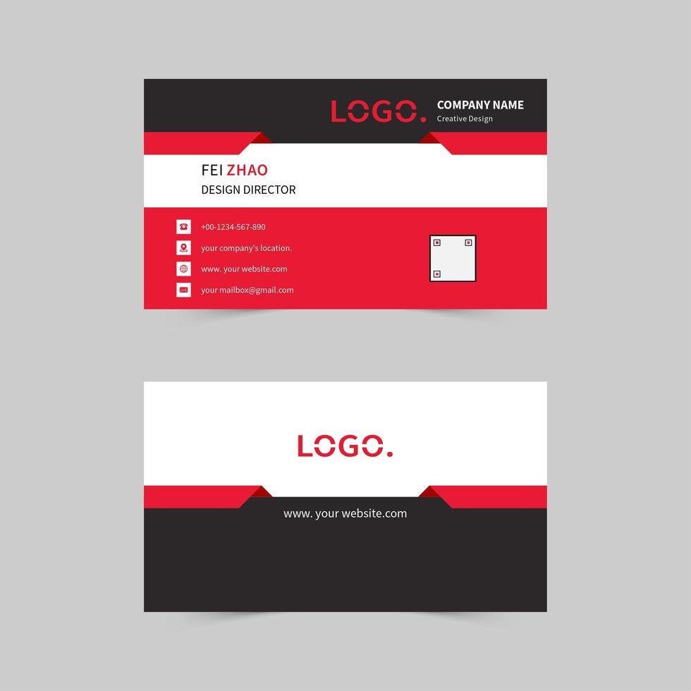 eenvoudig bedrijfsvisitekaartje vector