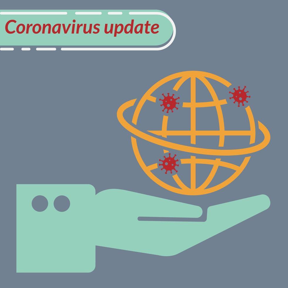 afbeelding coronavirus-update vector