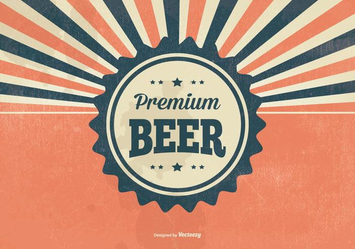 Retro Premium Beer Illustratie vector