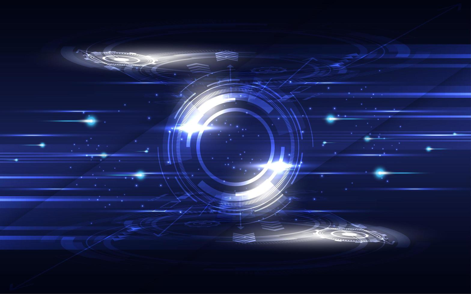 gloeiend blauw en wit hi-tech communicatieconcept vector