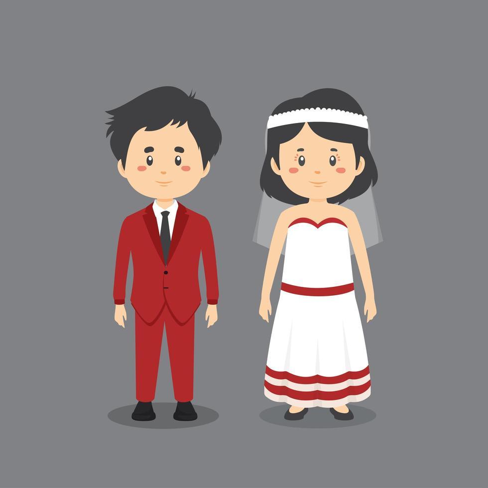 paar trouwen vector