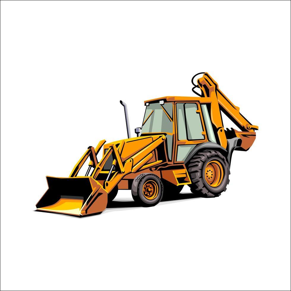 zwaar voertuig voor bouw en mijnbouw vector