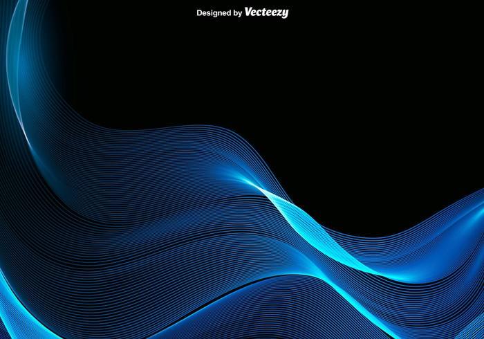 Vector Abstracte Blauwe Golf