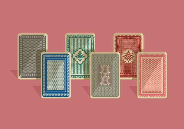 Speelkaart Terug Kleurrijke Vector