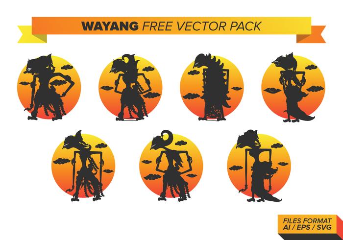 Wayang Gratis Vector Pakket